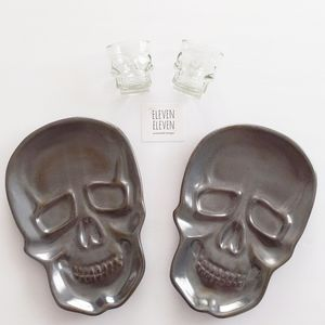 skull plates and shot glasses set bundle n…